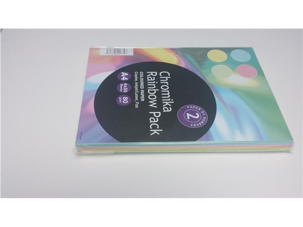 Kopieerpapier A4 pastelkl. 80grs ass. 5 kleuren 200 vel